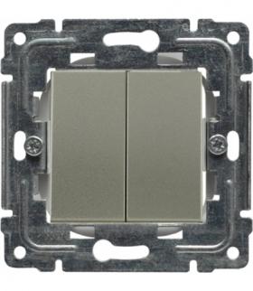 Zaślepka modułowa (2szt. 22,5mmx45mm) Seria DANTE, SATYNA 455080