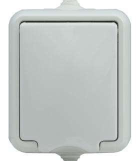 Gniazdo pojedyncze IP 44 klapka biała, typu Schuko. Seria HYDRO, BIAŁY 120441