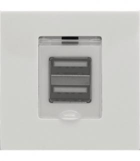 Moduł Keystone - moduł ładowarka USB x2, Seria KOS 45, BIAŁY 3504160