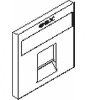 Gniazdo komputerowe (teleinformatyczne) pojedyncze typu MOLEX,z zasłoną i etykietą Seria KOS 45, BIAŁY 350465