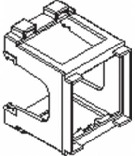 Uchwyt modułowy 45x45 na euro - szynę Seria KOS 45, BIAŁY 350450