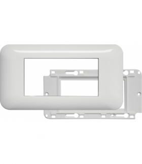 Ramka podwójna + uchwyt do modułów 45x45 (wymiar zewn. 151x80) Seria KOS 45, BIAŁY 3504103