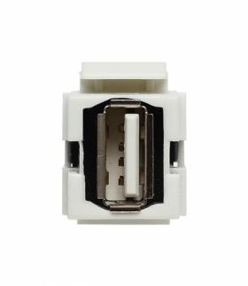 Moduł Keystone - gniazdo multimedialne USB, bez ramki Seria KOS 45, BIAŁY 500451