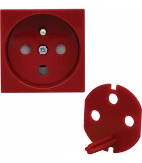 Gniazdo typu Data z blokadą torów prądowych, kolor czerwony Seria KOS 45, CZERWONY 3510143