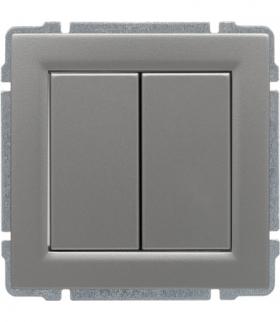 Zaślepka modułowa (2szt. 22,5mmx45mm) Seria KOS 66, ALUMINIUM 664080