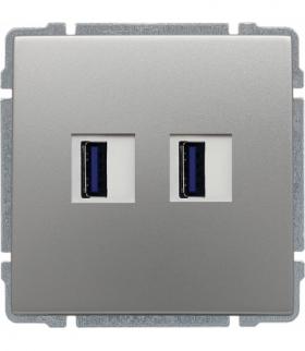 Ładowarka USB podwójna Seria KOS66, ALUMINIUM 664057