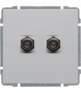 Gniazdo TV SAT podwójne typu F, bez ramki Seria KOS 66, BIAŁY 660458