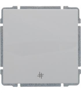 Łącznik krzyżowy z klawiszem, bez ramki, Seria KOS 66, BIAŁY 660417