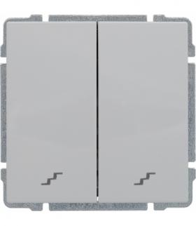 Łącznik podwójny schodowy z klawiszem, bez ramki, Seria KOS 66, BIAŁY 660419