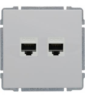 Gniazdo komputerowe podwójne 2xRJ45, bez ramki, Seria KOS 66, BIAŁY 660467