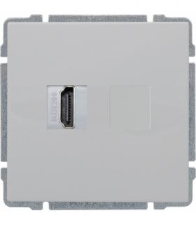 Gniazdo multimedialne HDMI, bez ramki Seria KOS 66, BIAŁY 660450
