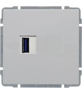 Ładowarka USB pojedyncza Seria KOS66, BIAŁY 660459
