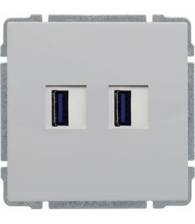Ładowarka USB podwójna Seria KOS66, BIAŁY 660457