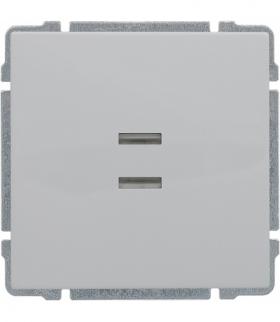Łącznik pojedynczy podświetlany z klawiszem, bez ramki, Seria KOS 66, BIAŁY 620411
