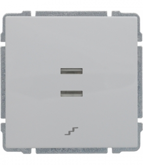 Łącznik schodowy podświetlany z klawiszem, bez ramki, Seria KOS 66, BIAŁY 620416
