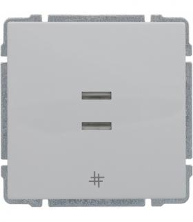 Łącznik krzyżowy podświetlany z klawiszem, bez ramki, Seria KOS 66, BIAŁY 620417