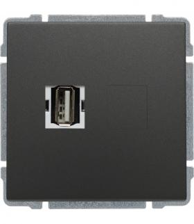 Gniazdo multimedialne USB, bez ramki Seria KOS 66, GRAFIT 666051