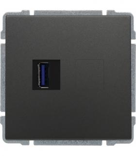 Ładowarka USB pojedyncza Seria KOS66, GRAFIT 666059