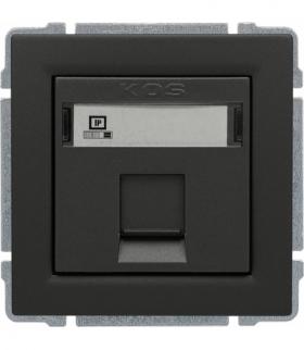 Gniazdo komputerowe poj. RJ45 (wkład MOLEX), bez ramki, Seria KOS 66, GRAFIT 666065
