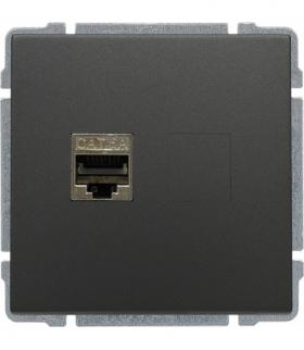 Gniazdo komputerowe poj. RJ45, bez ramki, Seria KOS 66, GRAFIT 666066