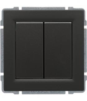 Zaślepka modułowa (2szt. 22,5mmx45mm) Seria KOS 66, GRAFIT 666080