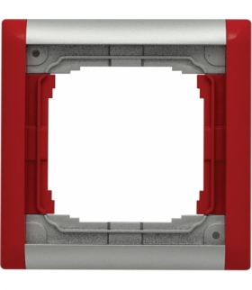 Ramka składana kolorowa x1 Seria KOS66 PLUS, ALUMINUM + CZERWONY 66401081