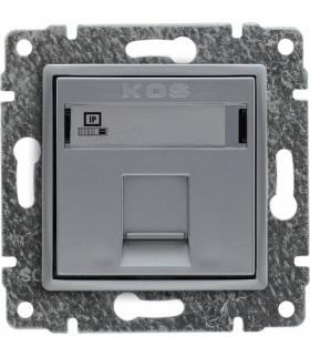 Gniazdo komputerowe poj. RJ45 (wkład MOLEX), bez ramki, Seria VENA, ALUMINIUM 514065