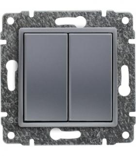 Zaślepka modułowa (2szt. 22,5mmx45mm) Seria VENA, ALUMINIUM 514080