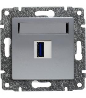 Ładowarka USB pojedyncza Seria VENA, ALUMINUM 514055