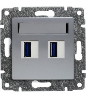 Ładowarka USB podwójna Seria VENA, ALUMINUM 514057