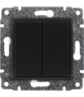 Zaślepka modułowa (2szt. 22,5mmx45mm) Seria VENA, ANTRACYT 516180