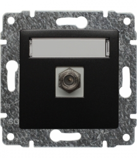 Gniazdo TV SAT pojedyncze typu F Seria VENA, ANTRACYT 516154