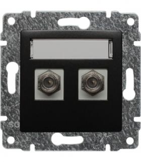 Gniazdo TV SAT podwójne typu F Seria VENA, ANTRACYT 516158
