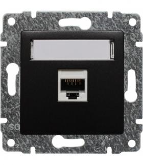 Gniazdo komputerowe poj. RJ45, kat. 5, bez ramki, Seria VENA, ANTRACYT 516161