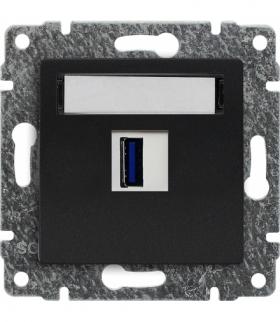 Ładowarka USB pojedyncza Seria VENA, ANTRACYT 516155