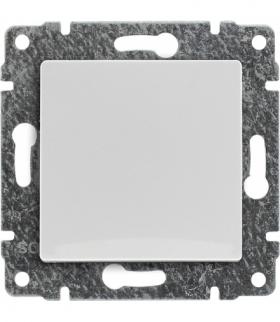 Przycisk z klawiszem, bez ramki, Seria VENA, BIAŁY 510410