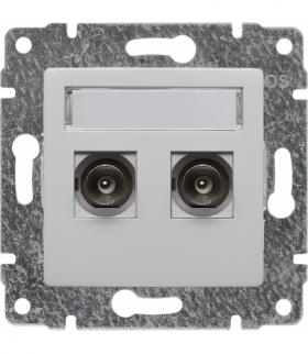 Gniazdo TV podwójne, bez ramki Seria VENA, BIAŁY 510456