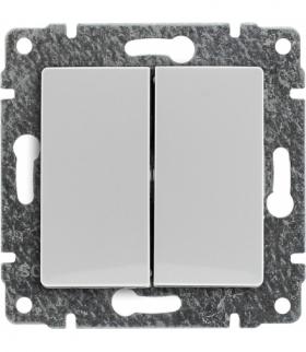 Łącznik świecznikowy z klawiszem, bez ramki, Seria VENA, BIAŁY 510415