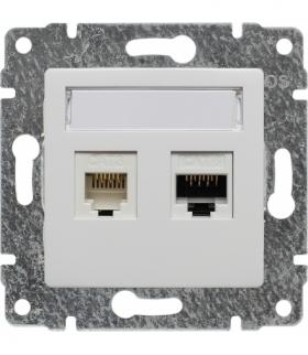 Gniazdo telefoniczno-komputerowe, bez ramki Seria VENA, BIAŁY 510469