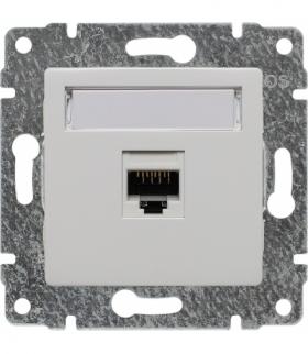 Gniazdo komputerowe poj. RJ45, kat. 5, bez ramki, Seria VENA, BIAŁY 510461
