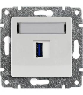 Ładowarka USB pojedyncza Seria VENA, BIAŁY 510455