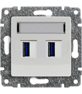 Ładowarka USB podwójna Seria VENA, BIAŁY 510457