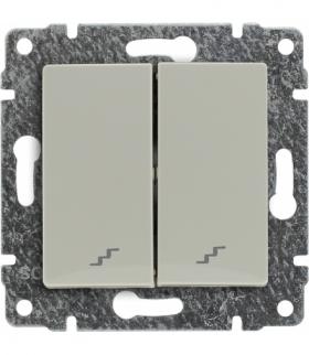 Łącznik podwójny schodowy z klawiszem, bez ramki, Seria VENA, KREM 510319
