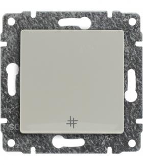 Łącznik krzyżowy z klawiszem, bez ramki, Seria VENA, KREM 510317