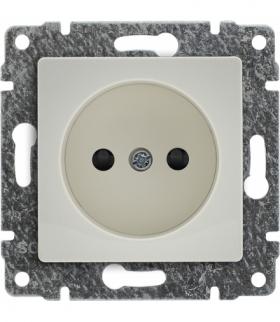 Gniazdo poj. z przesłoną torów prądowych, bez ramki, Seria VENA, KREM 510333