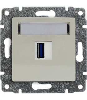 Ładowarka USB pojedyncza Seria VENA, KREM 510355