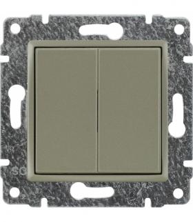Zaślepka modułowa (2szt. 22,5mmx45mm) Seria VENA, SATYNA 515080
