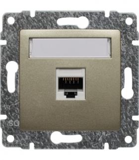 Gniazdo komputerowe poj. RJ45, kat. 5, bez ramki, Seria VENA, SATYNA 515061