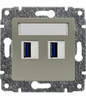 Ładowarka USB podwójna Seria VENA, SATYNA 515057
