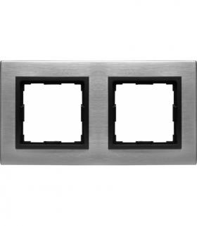 METAL Ramka 2x Seria VENA2 Metal, INOX 5243282